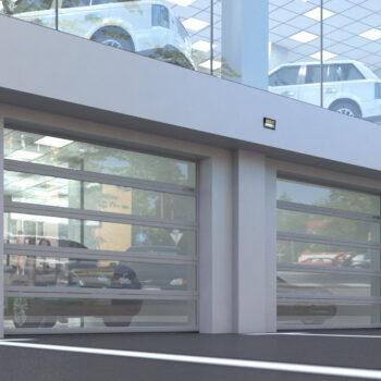 Панорамные секционные ворота ISD02
